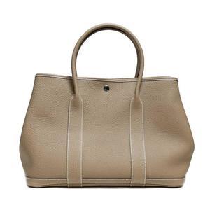 Hermes Garden Party Pm Negonda Etoupe A Ladies' Tote Bag Women's Free Shipping