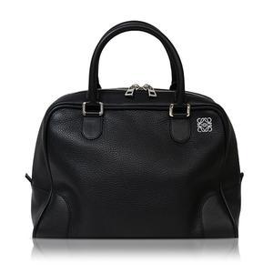 Loewe Mini Boston Bag Black Ladies Beautiful Lobby Back Free Shipping