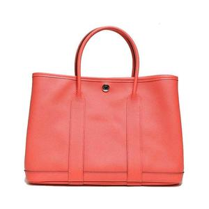 Hermes Garden Party Tpm Vaud Epson Rose Jaipur A Tote Bag Women's Free Shipping