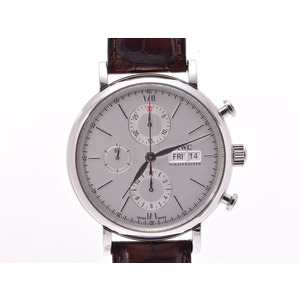 Used Iwc Port Finino Chrono Iw391007 Ss Leather Silver Dial Face Automatic Winding Box Gala Men's Wrist Watch Unused ◇