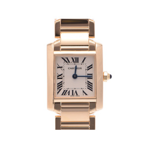 Used Cartier Tank Francaise Sm Yg Quartz Ladies Watch Box Galla ◇