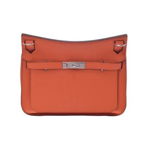 Used Hermes Gipsiere 28 Triyon Clemence Orange Sv Hardware □ R Engraved ◇