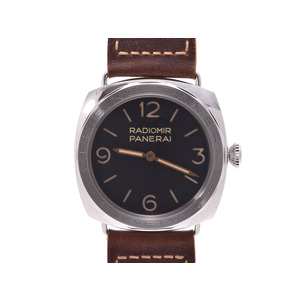 Officine Panerai Used Panerai Radio Meal 3 Days Acecio World Limited 1000 Ss / Leather Pam 00685 Black Letter Board Hand Winding Box Unused Officine Panera ◇
