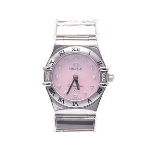 Second Hand Omega Constellation 1566.66 Pink Shell Dial 12p Diamond Ss Quartz ◇