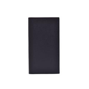 Used Hermes Fleming Gusseted Wallet Vaud Epson Black X Engraved ◇