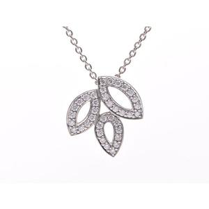 Harry Winston Used Harry Ulinston Lily Cluster Mini Pendant Necklace Pt950 Diamond 0.19ct 5.9g Box Galler Winston ◇