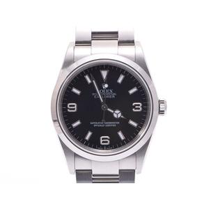 中古 ロレックス エクスプローラ1 114270 F番 SS 黒文字盤 メンズ  腕時計  ROLEX