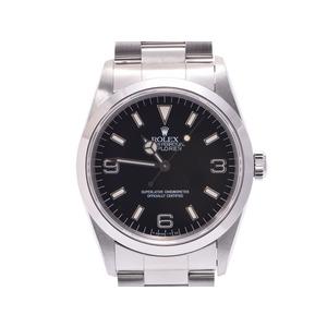 中古 ロレックス エクスプローラ1 14270 SS 黒文字盤 U番 メンズ  腕時計  箱 ROLEX