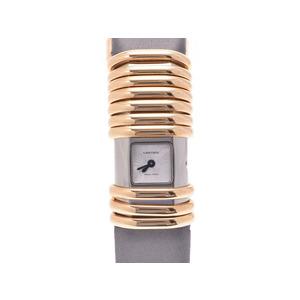 中古 カルティエ デクラレーション WT000350 YG/TI シルバー文字盤 クオーツ レディース  腕時計  CARTIER