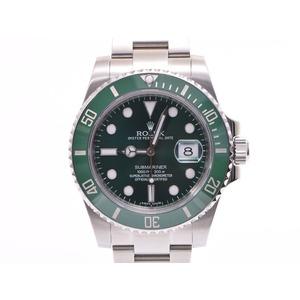 中古 ロレックス サブマリーナ 116610LV 緑文字盤 緑ベゼル 箱 ギャラ メンズ  腕時計  ROLEX