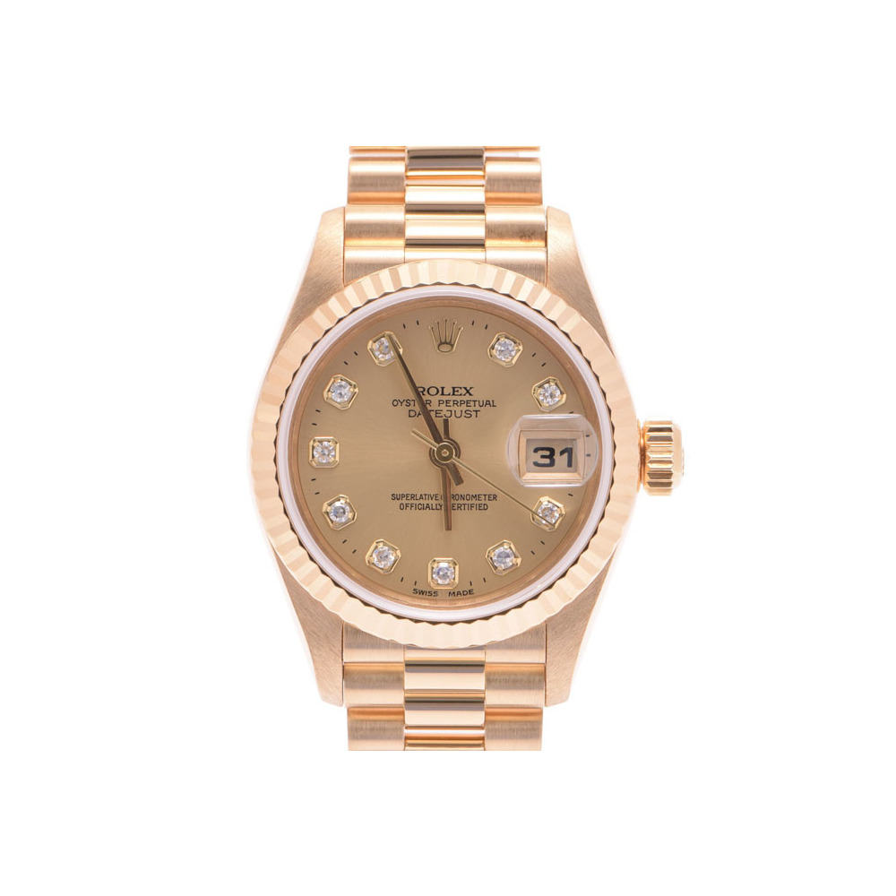 中古 ロレックス デイトジャスト79178G U番 YG 自動巻 箱 ギャラ レディース  腕時計  ROLEX