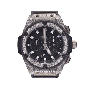 中古 ウブロ キングパワー709.ZX.1770.RX.1704 ダイヤベゼル 裏スケ 自動巻 箱 正規ギャラ メンズ  腕時計  HUBLOT