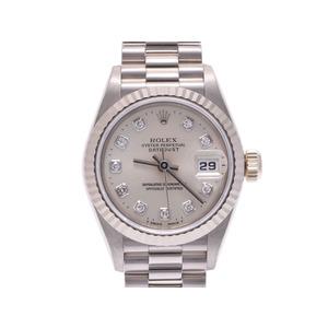 中古 ロレックス デイトジャスト69179G W番 WG/SS 10Pダイヤ 自動巻 メンズ  腕時計  ROLEX