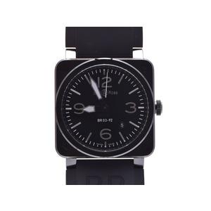 中古 ベル&ロス BR03-92-CBL セラミック/ラバー 黒文字盤 自動巻 箱 ギャラ メンズ  腕時計  BELL&ROSS