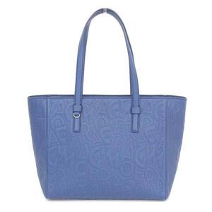Salvatore Ferragamo Ferragamo Tote Bag Embossed Leather Blue