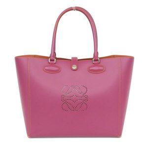 Loewe Leo Tote Bag Leather Purple