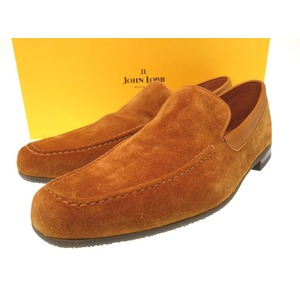 Jongrob Suede Leather Loafer Shoes Men's Size 7 Brown Camel 0060 John Lobb