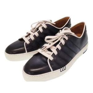 Berlutti Playfield Leather Navy Sneaker Shoes 0220 Berluti Men's