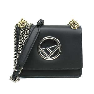 Fendi Mini Cannyf 8bt 286 2ih Black Shoulder Bag Ladies