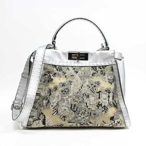 Fendi Cereia Pekaboo 8bn290 Silver 2way Handbag Ladies