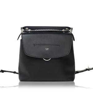 Fendi Back To School 2 Way Bag 8 Bz 042 Nero × Palladio Women's