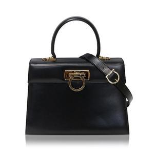 Salvatore Ferragamo Ferragamo Salvatore Gantini 2 Way Handbag Dd212181 Black Ladies