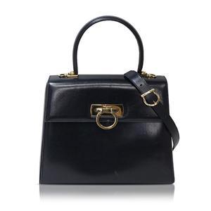 Salvatore Ferragamo Ferragamo Salvatore Gantini 2 Way Handbag E210536 Black Ladies