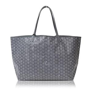 Goyard Cotton Hemp Leather Tote Bag Gray