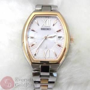 美品 SEIKO セイコー ルキア ソーラー レディース 腕時計 時計 LK 1B22-0BY0 【ku】【中古】