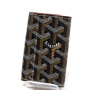 Goyard Goyar 6 Consecutive Key Case Apm 118 - 01 Black × Natural