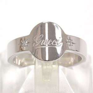 Gucci Ring 18k White Gold Diamond Size # 11.5 Weight 5.4 G