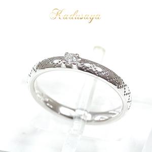Gucci Diamantissimaring K18wg Diamond No. 7 (Exact Size 6.5 Strong) 284919 J8540 9066