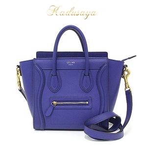 Celine Luggage Nano Shopper Blue Series 168243 Handbag Shoulder Bag