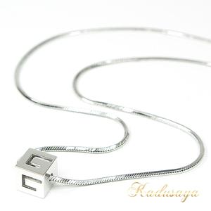 Gucci G Logo Cube Necklace K18 Wg 43 Cm