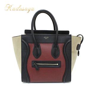 Celine Luggage Micro Calf Suede Rust Bordeaux Black Beige Handbag Tote Bag 167793psj.27ru