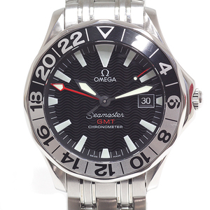 Omega Omega Men's Watch Seamaster Gmt 2534.50 50th Anniversary Model Black Character Board