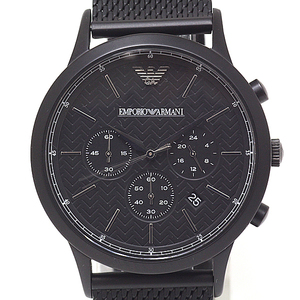 Emporio Armani Mens Quartz Watch Chronograph Ar 2498 Black (Black) Dial