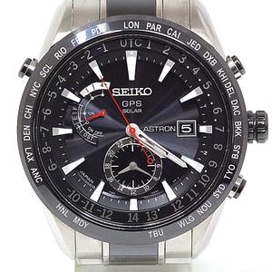 Seiko Men's Watch Astron Gps Satellite Reception Solar Sbxa 015 Black Dial