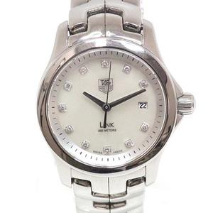 Tag Heuer Women's Quartz Watch Link Wjk1317 Shell Dial 11p Diamond