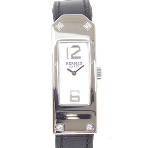 Hermes Hermes Ladies Watch Kelly 2 Kt1.230 4p Diamond White Shell Dial