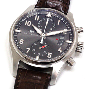 Iwc Spirit Fire Chronograph Iw 387802 Gray Dial Men's Automatic A Rank Wrist Watch