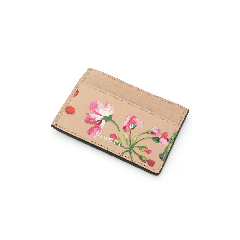 Gucci card case pink flower pass 410124 used good good mightylinksfo