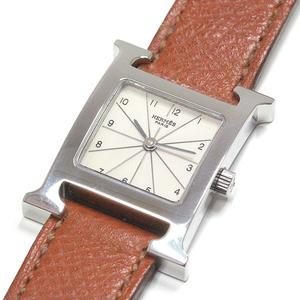 Hermes Hermes Ladies Watch H Hh1.210 Silver Dial Brown Strap