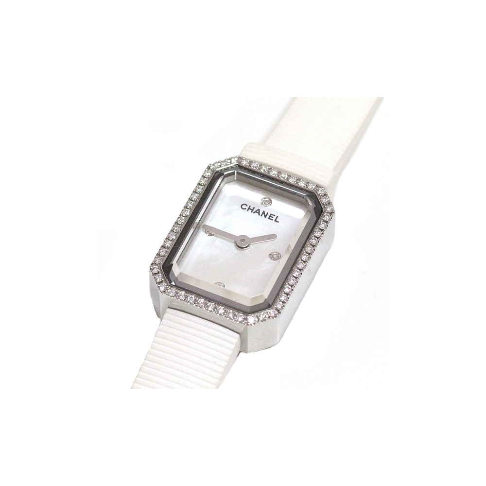 Chanel Chanel Ladies Watch Premiere Mini H2433 White Shell 4p Diamond Elady Com
