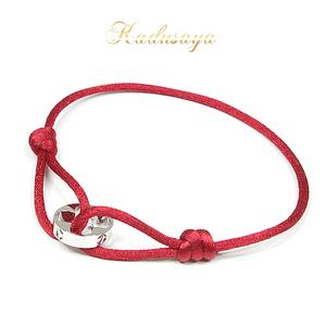 Louis Vuitton Louisvuitton Brassereyan Crew White Gold K18wg Cotton Q95281 Bracelet Free Size