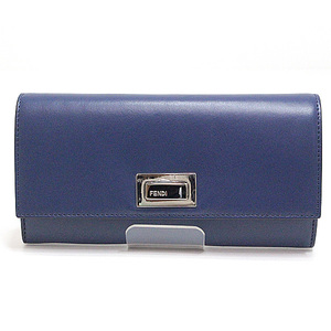 Fendi Pekaboo Folding Wallet 8m0377 Blue 2017 Spring And Summer New Model