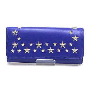 Jimmy Choo 2017 Spring And Summer New Model Folding Wallet Nino Ltu Cobalt