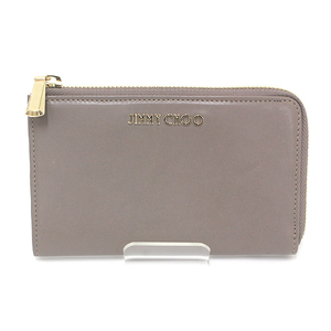 Jimmy Choo Card Receipt Case Round Fastener Gray