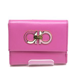Salvatore Ferragamo Ferragamo Double Guncinny W Hook Fold Wallet 22 C481 01 Pink