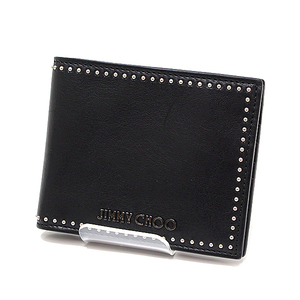 Jimmy Choo Chu Men's Folded Wallet Mark (Mark) Black